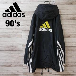アディダス(adidas)の90's Adidas ビッグロゴ サイドライン ナイロンジャケット パーカー(ナイロンジャケット)