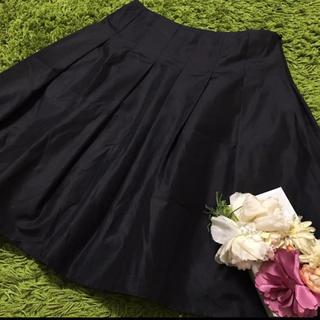 エムズグレイシー(M'S GRACY)のエムズグレイシー❤︎ レディボリューミースカート黒(ひざ丈スカート)