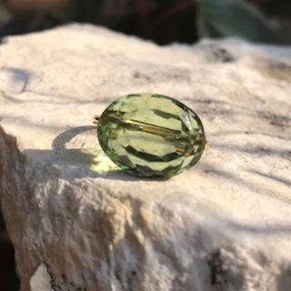 グリーンアメジスト キャンディリング インドジュエリー(リング(指輪))