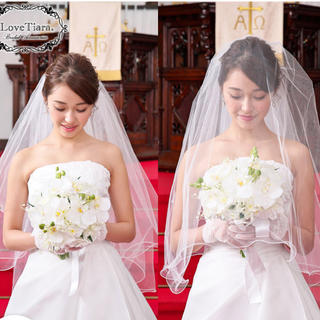 ウェディングベール・メロウミディアムタイプ・オフホワイト(ヘッドドレス/ドレス)