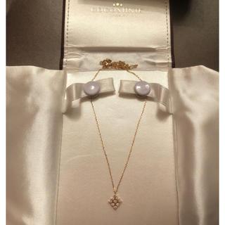 ココシュニック(COCOSHNIK)のcocoshnik ネックレス ココシュニック 美品 ゴールド ひし形 ダイヤ(ネックレス)