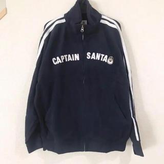 キャプテンサンタ(CAPTAIN SANTA)の新品未使用 ネイビー キャプテンサンタ 刺繍 パーカー ブルゾン L(ブルゾン)