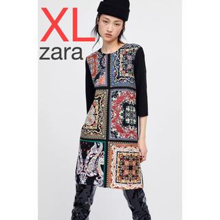 ZARA - zara  スカーフ柄 ワンピース 新品