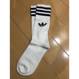 アディダス(adidas)のadidas ソックス 22〜24cm ホワイト 1足(ソックス)