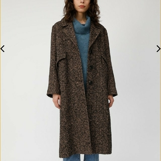 moussy - moussy HERRINGBONE OVERSIZED COAT
