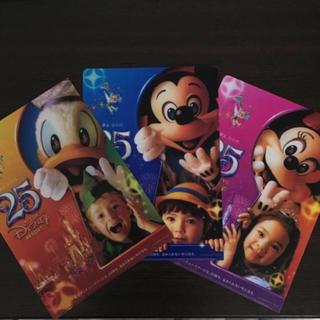 ディズニー(Disney)の★東京ディズニーリゾート 25周年記念 クリアファイル 3枚セット★(クリアファイル)