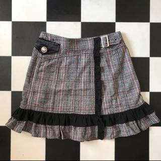 アルゴンキン(ALGONQUINS)のALGONQUINS (アルゴンキン)チェック巻きスカート(ミニスカート)