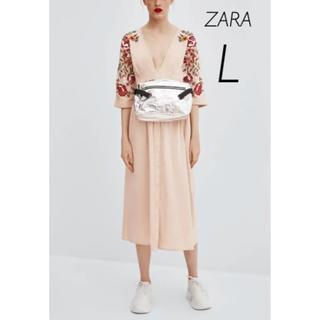 ZARA - 【新品・未使用】ZARA 刺繍入りワンピース L