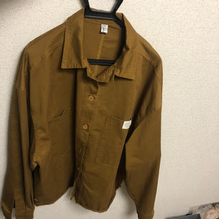 ブラウンオーバーサイズジャケット(Gジャン/デニムジャケット)