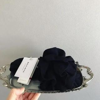 ⚫︎WOLF & RITA⚫︎ お花のマフラー 黒(マフラー/ストール)