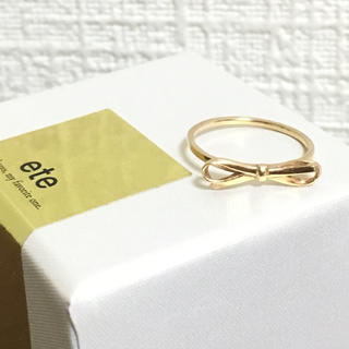 エテ(ete)のとこちゃん様専用♪エテ リボンリング K10(リング(指輪))