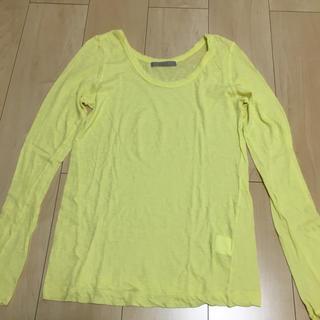 アルカリ(alcali)のalcali アルカリ 長袖 Tシャツ ロンT カットソー 黄色 薄手(Tシャツ(長袖/七分))