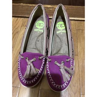 アスビー(ASBee)のaprizm モカシン シューズ 靴 レディース 新品未使用 Sサイズ(スリッポン/モカシン)