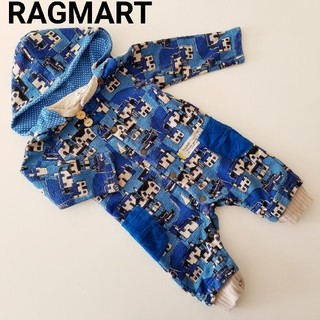 RAG MART - ラグマート★裏起毛カバーオール 80★ブルー
