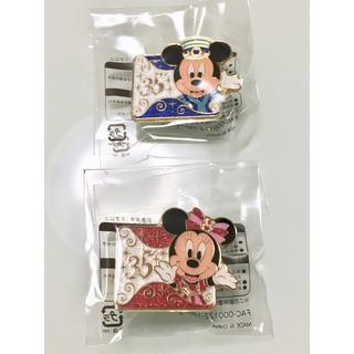 Disney - 35周年 ミッキーミニー バッチ