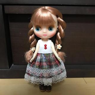 チェックワンピ(人形)