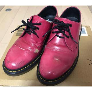 ドクターマーチン(Dr.Martens)のドクターマーチン Dr.Martens ピンク 古着 3ホール(ローファー/革靴)