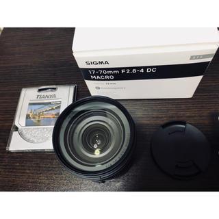 SIGMA - 美品 おまけ付き SIGMA 17-70mm f2.8-4.0 DC MACRO