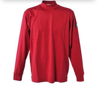 シナコバ(SINACOVA)のSINACOVA 新品未使用 ハイネックTシャツ レッド(Tシャツ/カットソー(七分/長袖))