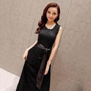 【新品】ロングドレス ワンピース 結婚式 2次会 パーティ(ロングドレス)