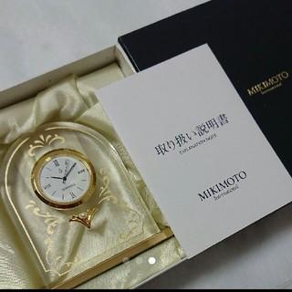 ミキモト(MIKIMOTO)の【新品★未使用】ミキモトパールつき 置き時計(置時計)