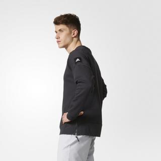 アディダス(adidas)の新品アディダスジップ付きクルーネックスエットトップス長袖(ニット/セーター)