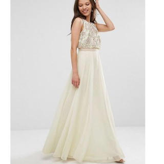 ASOS セパレート風ドレス(ロングドレス)