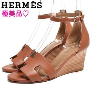 エルメス(Hermes)の極美品/18SS♡  エルメス サンダル レジェンド ブラウン 35 22cm(サンダル)