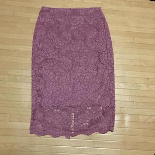 ジーユー(GU)のGU レースタイトスカート  S(ひざ丈スカート)