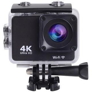 SAC 4K録画対応アクションカメラ リストバンドリモコン付属 ブラック
