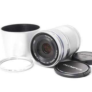 オリンパス(OLYMPUS)の❤️プロテクター&フード付き❤️新品級❤️OLYMPUS 40-150(レンズ(ズーム))