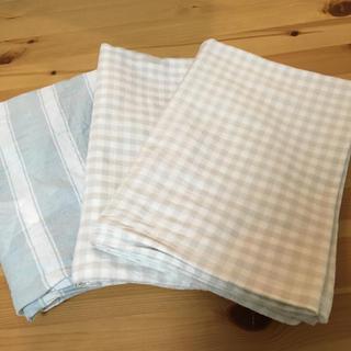 ムジルシリョウヒン(MUJI (無印良品))の無印良品 枕カバー チェック  ストライプ(シーツ/カバー)