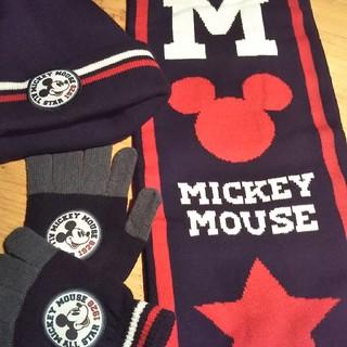 Disney - ミッキーのマフラーと帽子と手袋セット