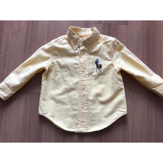 ラルフローレン(Ralph Lauren)のラルフローレン マルチカラーポニー ボタンダウンシャツ イエロー(ブラウス)