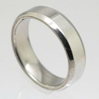 シンプルステンレスリング シルバー 23号 新品 クリックポスト送料無料(リング(指輪))