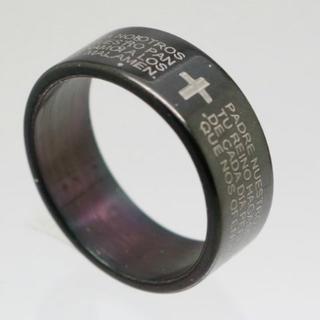 聖書ステンレスリング ブラック 25号 新品 クリックポスト送料無料(リング(指輪))