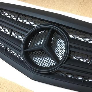 メルセデスベンツ W221 後期車用 SLタイプ グリル(マットブラック)(車種別パーツ)