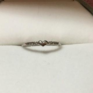 ホワイトゴールド とダイヤのピンキーリング(リング(指輪))