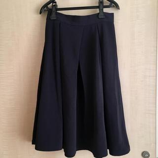 ジーユー(GU)の紺の膝丈スカート(ひざ丈スカート)