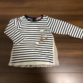 シマムラ(しまむら)の新品 長袖 チュニック ロンT 100(Tシャツ/カットソー)