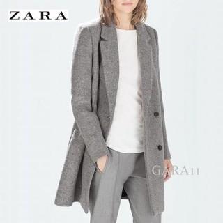 ザラ(ZARA)の☆ZARA☆ストラクチャオーバーコート☆ザラ☆グレー☆チェスター☆ダブル☆S(チェスターコート)