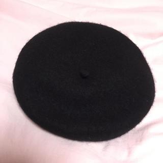 マジェスティックレゴン(MAJESTIC LEGON)のベレー帽 黒 ノーブランド 🎀(ハンチング/ベレー帽)
