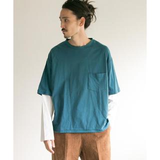 オータ(ohta)のbukht ブフト 18SS WH×GRN レイヤード 長袖Tシャツ(Tシャツ/カットソー(七分/長袖))