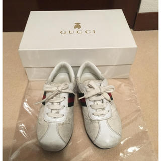 GUCCI グッチ キッズ 靴 白 26 16cm