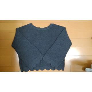 ジーユー(GU)のGUのグレーのニットセーターです。(ニット/セーター)