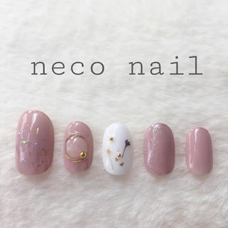 neconail No.48アッシュモカ・ホワイト♡ショート