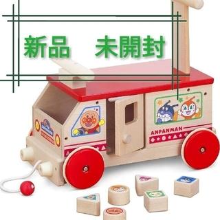 アンパンマン(アンパンマン)の新品 国産 アンパンマン 木のかたちあわせバス (知育玩具)