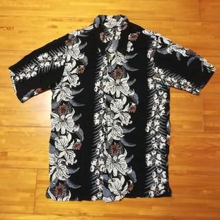 クーティー(COOTIE)の古着 半袖 アロハシャツ 黒 M COOTIE CALEE RADIALL (シャツ)