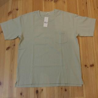 ジーユー(GU)のGU ジーユー ヘビーウエイト ビッグシルエットTシャツ 無地 メンズL(Tシャツ/カットソー(半袖/袖なし))