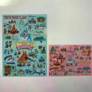 ディズニー(Disney)のディズニー マップ柄手描き風シリーズ クリアファイル♪(クリアファイル)